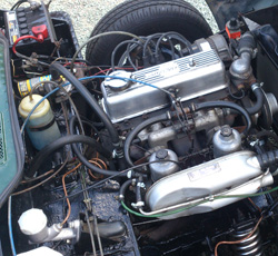 Triumph Spitfire engine bay 2